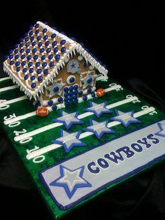 Dallas Cowboys Gingerbread House