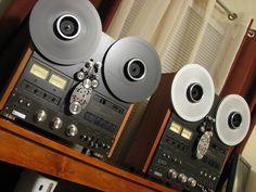 Technics RS series reel-to-reel tape decks.