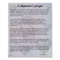 Stepmoms prayer