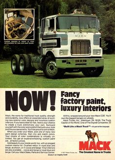 1977 Mack Truck C.O.E. Tractor by aldenjewell, via Flickr