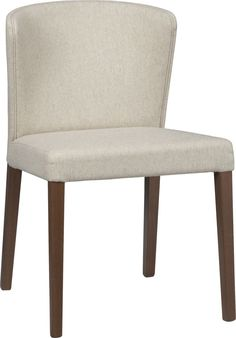 Curran Khaki Side Chair  | Crate and Barrel