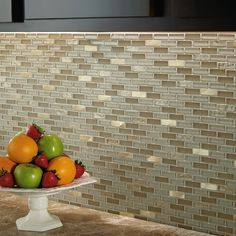 Shop American Olean Delfino Glass Cornsilk Glass Mosaic Indoor/Outdoor Wall Tile (Common: 12-in x 12-in; Actual: 11.87-in x 12.87-in) at Lowes.com