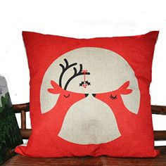 L&L House 18 X 18 Inch Cotton Linen Decorative Throw Pillow Cover Cushion Case, In-Love Deer HJ004 HJ http://www.amazon.com/dp/B00KU7MSF8/ref=cm_sw_r_pi_dp_MoRGub0ZNGKEH