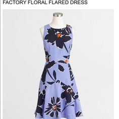J.Crew Factory Floral Flared Dress New with tags! J.Crew Factory gorgeous floral dress. 100% polyester. Size 12. NO TRADES OR OFFERS PLEASE! This is currently in season and is a steal. Price firm. (As you can see, actual flower placement varies depending how fabric is cut) J. Crew Dresses