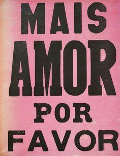 """Lambe-Lambe """"Mais Amor Por Favor"""" (rosa 2015) da Bons Pensamentos."""
