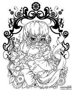 Dia De Los Muertos Coloring Pages | Dia De Muertos Madonna - lineart by JadeDragonne
