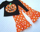 Polka Dot Pumpkin shirt and Ruffle pants