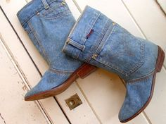 80's Baby Makes Her Blue Jeans Talk Booties / by OurTownVintage, $48.00