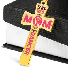 Cross Necklaces For Dancer Mom-The Best Kind Of Mom Raises A Dancer-Dance Moms Necklaces - Mother's day Necklaces - Mothers day Necklace Cheap Working Mother, Working Moms, Personalized Family Gifts, Glass Coating, Best Mom, Ball Chain, New Baby Products, First Love, To My Daughter