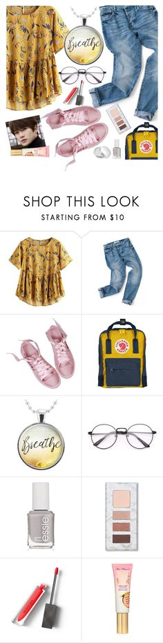 """""""it's Friday!"""" by elliewriter ❤ liked on Polyvore featuring Fjällräven, Essie, Burberry and Zelens"""