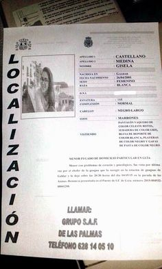 Gisela ha sido encontrada por la policía nacional