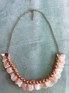 Items similar to Pearl and lace necklace on Etsy Handmade Jewelry, Unique Jewelry, Handmade Gifts, Lace Necklace, Pearl And Lace, Jewellery, Pearls, Trending Outfits, Etsy