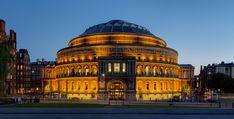 Royal Albert Hall is a concert hall on the northern edge of South Kensington, London, best known for holding the Proms concerts annually each summer since 1941. It has a capacity (depending on configuration of the event) of up to 5,272 seats.