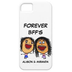 Shop Funny Cartoon Best Friends BFF's Case-Mate iPhone Case created by SnakesMom. Bff Cases, Iphone 5 Cases, Iphone 11, Apple Iphone, Best Friend Goals, Best Friends, 6s Plus Case, Bffs, Plastic Case