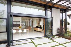 Glass Doors Exterior| Accordion door