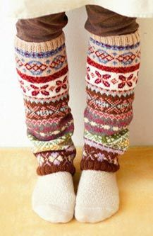 leg warmers - yay!  They're coming back!