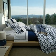 SFERRA Barrington Collection - Great geometric style in Chartreuse or Navy. www.elementsforgoodliving.com