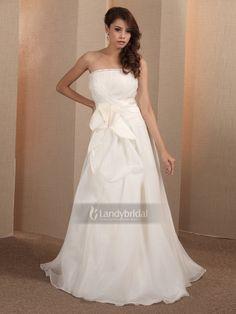 エンパイア  ウェディングドレス ビスチェ アイボリー 二次会 花嫁ドレス  003170013001