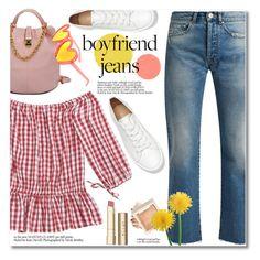 """Boyfriend Jeans"" by fshionme ❤ liked on Polyvore featuring Raey, Stila and boyfriendjeans"