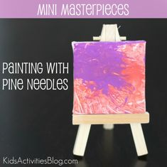 We created mini masterpieces over at Quirky Momma using pine needles. What other things do you like to paint with?