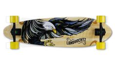 The longboard I bought in the summer of 2013. Deck illustration done by Andreas Preis #MFC4012