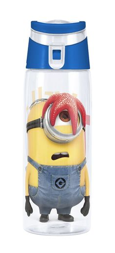 Water Bottle with Flip-top Cap and Despicable Me 2 Minions Graphic