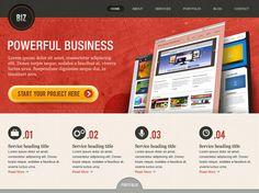 [Freebie] BiZ Business Website PSD Templates