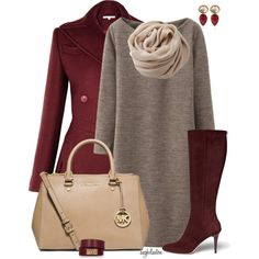 A fashion look from October 2014 featuring Uniqlo dresses, Jimmy Choo boots and MICHAEL Michael Kors tote bags. Browse and shop related looks.