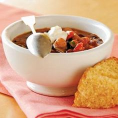 Three-Bean Chili Recipe | MyRecipes.com
