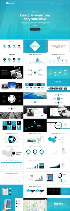 Blue Company business Template on Behance Powerpoint Presentation Slides, Simple Powerpoint Templates, Professional Powerpoint Templates, Business Presentation, Presentation Design, Keynote Template, Powerpoint Design, Microsoft Powerpoint, Business Design