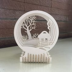 10$ Lovely Home 3D Puzzle with assembly guide by Unnote Cardboard 3d Puzzles, Snow Globes, Bookends, Connection, Etsy Seller, Creative, Book Holders