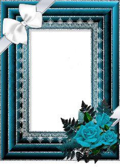 Tubes Cadres Blue Roses Frame.