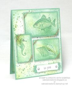 Stamp and Create With Sabrina: Stampin' Up! By The Tide - Mint Macaron See more - http://sabradcreations.blogspot.ca/2015/05/by-tide-mint-macaron.html