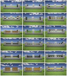 Minecraft Zaun Design - Minecraft Zaun Design Best Picture For gabion fence For Your Taste - Minecraft Bauwerke, Casa Medieval Minecraft, Construction Minecraft, Minecraft Kingdom, Minecraft Building Guide, Minecraft Tutorial, Minecraft Crafts, Minecraft School, Building Games
