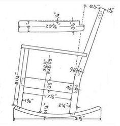 log rocking chair plans