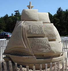 Mashpee sand sculpting festival - Cape Cod. Lots of talented artists here!