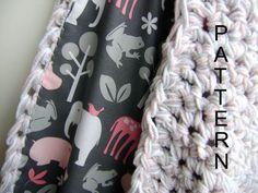 Reversible Crochet baby blanket. Maybe make a reversible KNIT blanket?