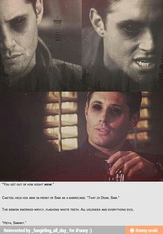 Demon Dean is so sexy and heartbreaking at the same time
