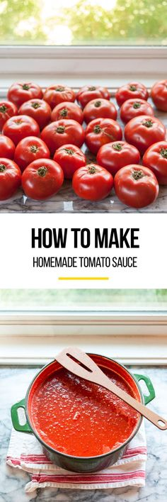 How to Make Tomato Sauce from Fresh Tomatoes From Scratch. This homemade recipe is simple, it just takes some time. You can can and process it, or simply freeze the sauce in your freezer to preserve it for months to come if canning isn't your thing.