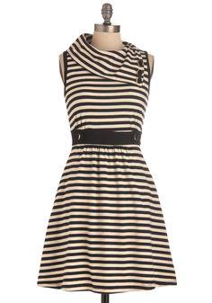 Coach Tour Dress in Stripes.
