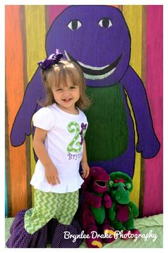 Brynlee's Barney Birthday Picture