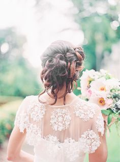 #hairstyles  Photography: Michelle March - michellemarch.com  View entire slideshow: Wedding Dress Back Styles We Love on http://www.stylemepretty.com/collection/476/