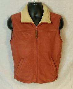 Pendleton Originals Copper/Tan Fleece Vest #Pendleton