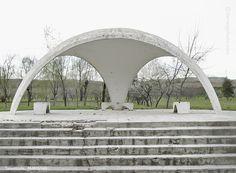 Soviet bus shelter. Tursunzoda, Tajikistan.  Series by Christopher Herwig