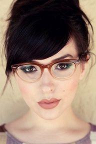 If I ever need glasses, I like these ones.  + mauve lips.