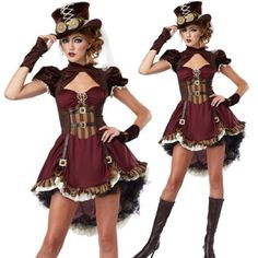 Steampunk costume for Girl sexy Adult Gothic Costume party halloween costumes for women fancy dress wholesale-in Clothing from Novelty & Special Use on Aliexpress.com | Alibaba Group