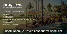Luxury Rio Hotel | Restaurant | Booking – HTML responsive template is a responsive HTML5/CSS/jQuery site template based on Bootstrap framework, font awesome, great owl library, swiper and magnific popup. It's suitable for hotels, resorts, bed and breakfasts, hostels, motels, spa but you can use it on other type of websites.