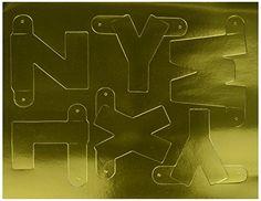 Beistle 55219-GD Gold Designer Letter and Number Kit, 41/2-Inch