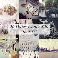 {LIFESTYLE} 20 Dates Under $20 in NYC | Nicolette Mason