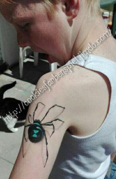 Black Widow Painting by Cookie from Cookie's Farbenspiel   Kinderschminken Spinne Facepainting Spider